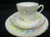 Tuscan china chintz tea trio